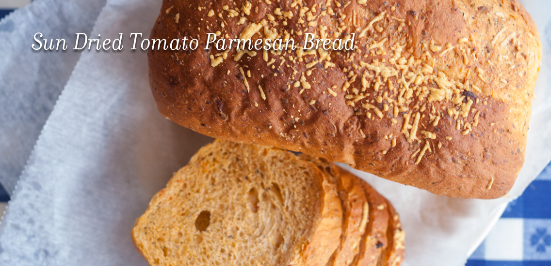 Sun Dried Tomato Parmesan Bread