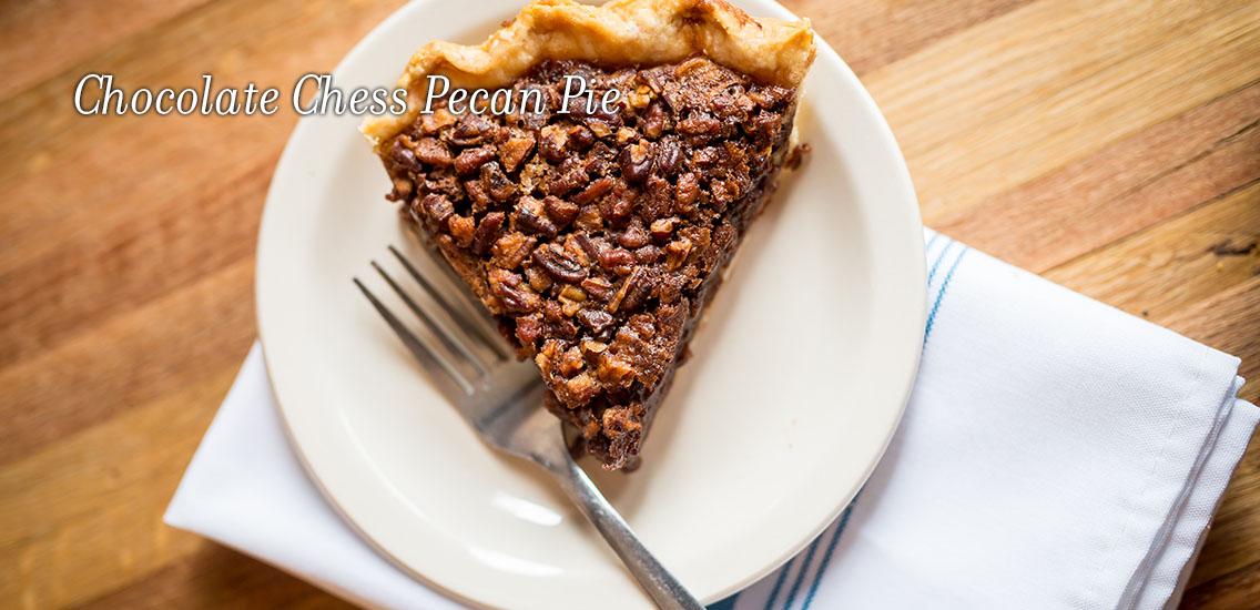 Merridee's chocolate chess pecan pie