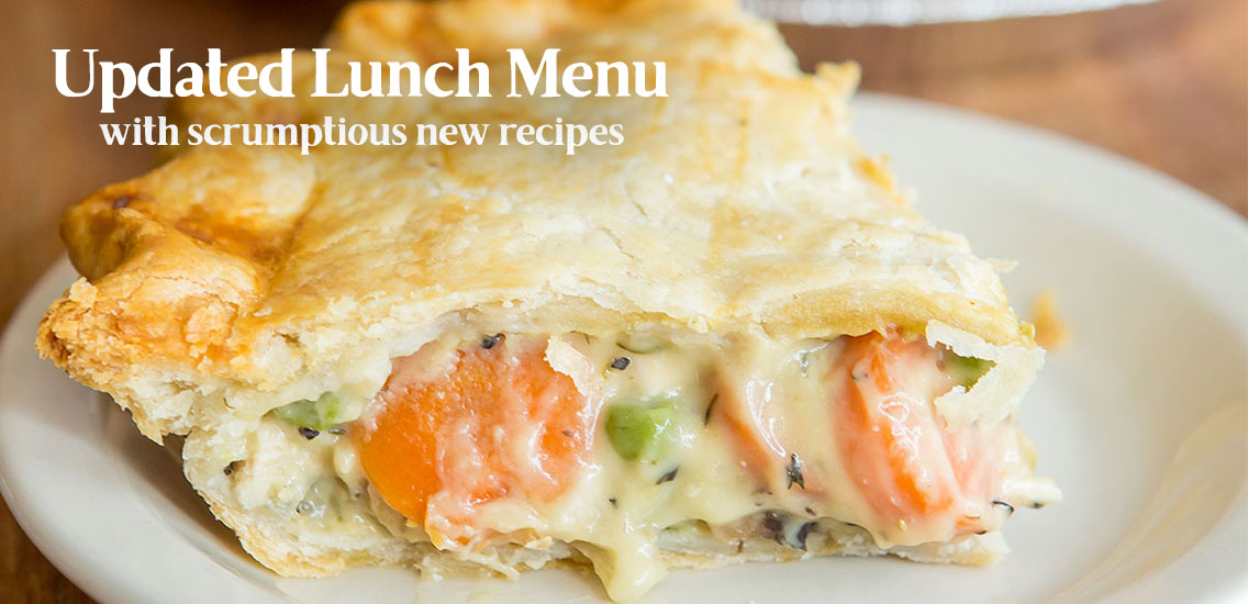 Updated lunch menu